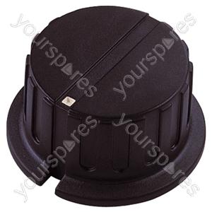 Black Pointer Rotary Knob with White Indicator - Knob Dia 20x15mm