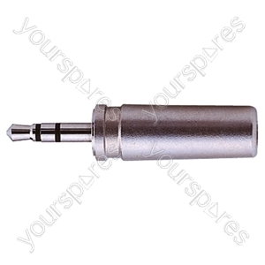 2.5 mm Stereo Metal Jack Plug With Solder Terminals