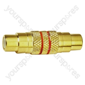 Gold Plated Phono Socket to Phono Socket Adaptor