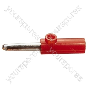 4 mm Banana Plug with Hard Plastic Cover and Screw Terminals - Colour Red