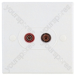 AV Wall Plate With 2 x 4mm Banana Sockets