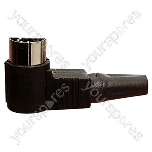 Right Angled 5 Pin 180 Degree DIN Plug