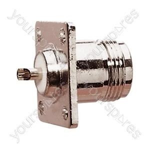 N Type Chassis Mounting Female Socket with 4 Screw Fitting