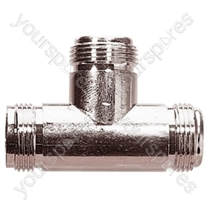 N Type T Connector (Female/Female/Female)