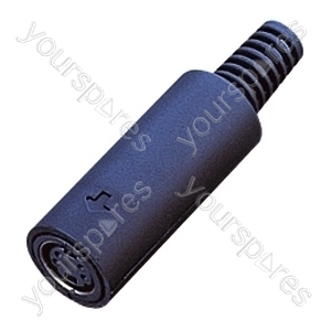 8 Pin Mini Din Line Socket