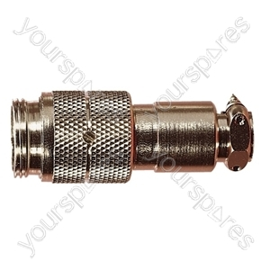 Nickel High Quality Multi Contact Line Plug with Cable Grip and Solder Terminals - Number of Contacts 7