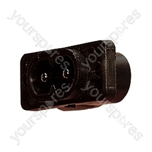 250 V 2 A AC 2 Pin Chassis Plug. Reversible