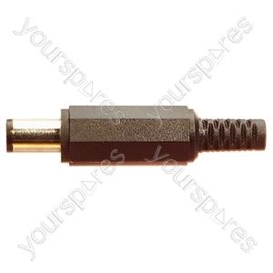 Plastic DC Power Line Plug with 10mm Shaft - Centre Hole 0.7mm