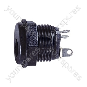 Plastic DC Power Chassis Socket   - Centre Hole 2.1mm
