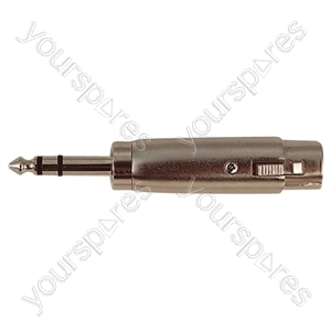 3 Pin XLR Female to 6.35 mm Stereo Plug Adaptor