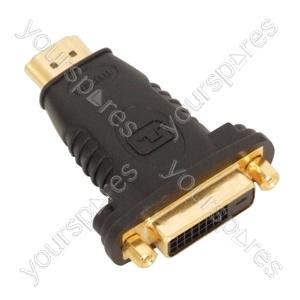 HDMI Plug to DVID Socket Adaptor