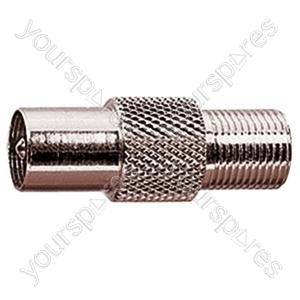9.5 mm Coaxial Plug to F Socket Radio Frequency Adaptor