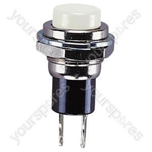 Round Metal Miniature Push Switch - Colour White