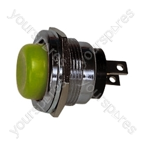 Round Metal Push to Make Button - Colour Green