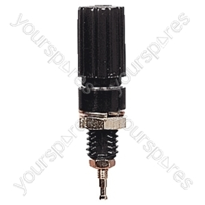 Binding Post Insulated Terminal for 4 mm Banana Plugs, Bare Wire or Spade Terminals - Colour Black