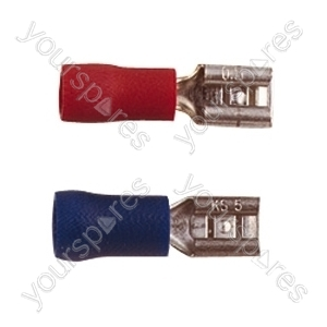 Push On Receptacle Crimp Terminal - Colour Red