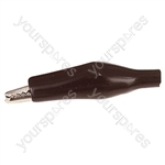 25 mm Shrouded Crocodile Clip - Colour Black