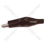25 mm Shrouded Crocodile Clip - Colour Black