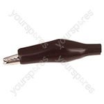 33 mm Shrouded Crocodile Clip - Colour Black