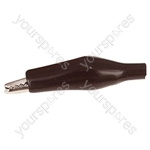 45 mm Shrouded Crocodile Clip - Colour Black