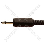 3.5 mm Mono Jack Plastic Jack Plug with Solder Terminals