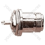 N Type Chassis Mounting Female Socket with Round Fixing Hole
