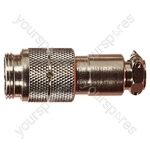 Nickel High Quality Multi Contact Line Plug with Cable Grip and Solder Terminals - Number of Contacts 2