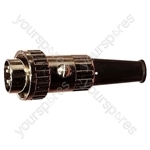 5 Pin 270 Degree Locking DIN Plug