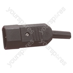 3 Pin High Quality IEC Line Plug 10A