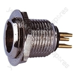 3 Pin Mini XLR Male Chassis Plug with Gold Contacts and Solder Terminals