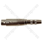 3 Pin XLR Female to 6.35 mm Stereo Socket Adaptor