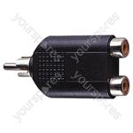 Phono Plug to 2x Phono Sockets Adaptor