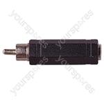 Phono Plug to 6.35 mm Stereo Socket Adaptor