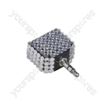 3.5 mm Stereo Plug to 2x 3.5 mm Stereo Sockets With Crystal Effect Adaptor
