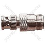 BNC Plug to N Type Socket Radio Frequency Adaptor