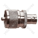 UHF Plug to BNC Socket Radio Frequency Adaptor