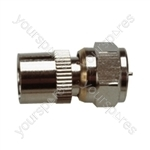 F Type Plug to 9.5 mm Coaxial Socket Radio Frequency Adaptor