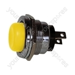 Round Metal Push to Make Button - Colour Yellow
