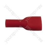 Push On Shrouded Receptacle Crimp Terminal - Colour Red