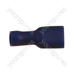 Push On Shrouded Receptacle Crimp Terminal - Colour Blue