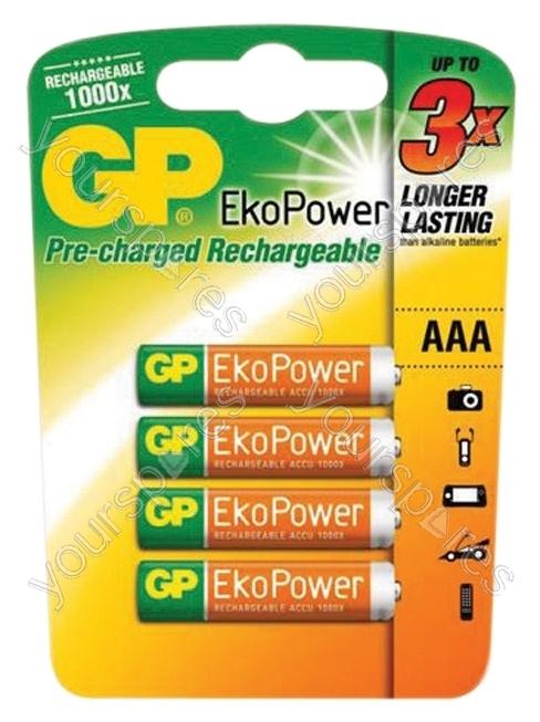 gp eko power rechargeable batteries type aaa gp407 by gp batteries. Black Bedroom Furniture Sets. Home Design Ideas