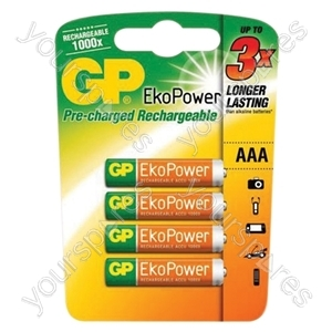 GP Eko Power Rechargeable Batteries - Type AAA