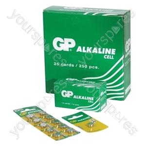 GP Alkaline Button Cell Strip of 10 - Type 189-C10