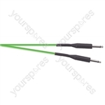 Premium Florescent Coloured Guitar Lead 6m - Colour Green