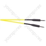 Premium Florescent Coloured Guitar Lead 6m - Colour Yellow