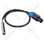 Professional 6.35 mm Jack Line Socket to 2 Pole Speakon Plug Speaker Adaptor Lead 2x 2.5mm Highflex Cable