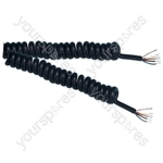 Standard 5 Core Screened Replacement Coiled Lead - Lead Length (m) 3