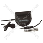 Tie Clip Omni-Directional Electret Condenser Microphone