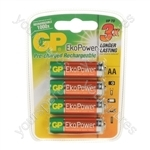 GP Eko Power Rechargeable Batteries - Type AA
