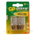 GP Ultra Alkaline Batteries - Type C